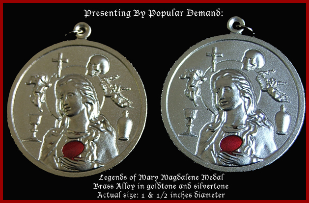 Legends brass the legends of mary magdalene medals mozeypictures Choice Image